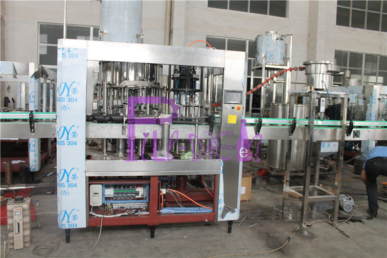 SUS316L Bottle Filling Machine Monoblock 2 In 1 De - Foaming Device Installed