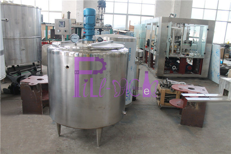 Auto Fruit Juice Processing Equipment 200L Solid Sugar Melting Pot Double Layer